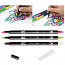 Tombow Dual Tip Brush Markers Greens
