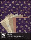 Metallic Ginkos Paper Pack
