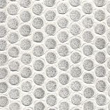 Embossed Honeycomb Circles - Natural White