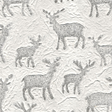 Embossed Deer - Natural White