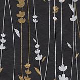 Meadow Flowers Black/Gold/Silver