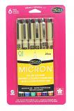Micron 6 Color Pens Set